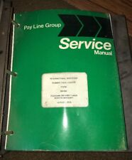 International Harvester Serie 65C Rubber Tire Loader Service Repair Manual