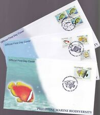 Philippines Marine Biodiversity Fishes, Koran Angel Fish 3 different  FDC