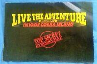 GI JOE LIVE THE ADVENTURE CATALOG POSTER Invade Cobra Island COMPLETE 1986