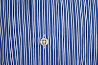 RALPH LAUREN PURPLE LABEL Mens BLUE WHITE STRIPED French Cuff DRESS SHIRT 16