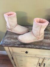 Girls UGG Light Pink Size 4 Classic Short Boots
