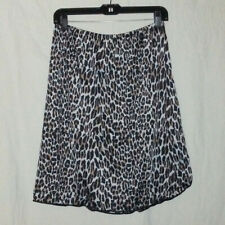 Vintage L Leopard Animal Cheetah Cat Print Half Slip Skirt Rockabilly Pin-Up