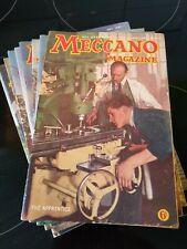 12 Meccano Magazines from 1947 January - December inclusive