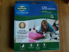 "New PetSafe Small 2-Way Locking Cat or small dog Door 5 3/4"" flap opening"