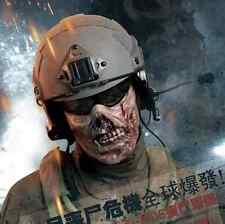 Military Paintball Half Face Protection Gear Tactical V2 Airsoft Zombie Mask Red