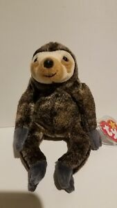 TY SLOWPOKE the SLOTH BEANIE BABY - MINT with MINT TAGS