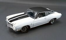 1970 CHEVELLE 454 LS6 WHITE BLACK RACING STRIPES VINYL TOP CHEVY ACME 1:18 GMP