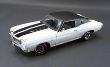 1970 CHEVELLE 454 LS6 WHITE BLACK RACING STRIPES VINYL TOP CHEVY ACME 1:18 GMP