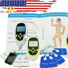 USA Digital Therapy Machine Pulse Acupuncture Massager FULL BODY W 8 electrodes