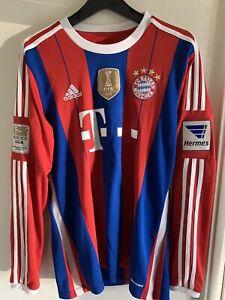 Adidas authentic FC Bayern Munich 13/14 World Champion soccer jersey climacool