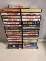 Willie Nelson Vintage Cassette Tape Lot 33 Tapes