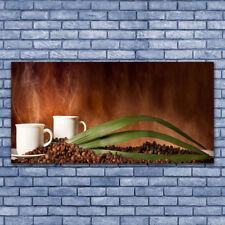 Impression sur verre acrylique Image Tableau 140x70 Cuisine Tasse Café En Grains