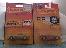 Matchbox 49 Peugeot Quasar 35 Pontiac T-Roof Firebird MOC  MIP Blister 1/64 Mint