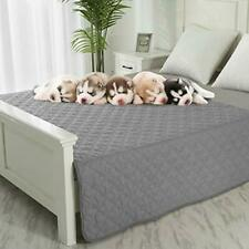 """Dog Blankets for Couch Protection Waterproof Dog Bed Covers 82""""x108"""" Grey+beige"""