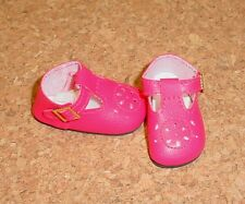 Doll Shoes 44mm DARK PINK 44mm T-Straps Ellowyne, Patience & NuMood