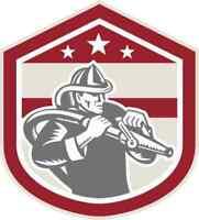 4 X 4.5 Firefighter Shield Sticker Vinyl Car Cup Decal First Responder Stickers