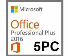Microsoft Office 2016 Professional Plus 5 PC Vollversion Original Key + Download