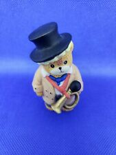 Lucy And Me Bear With Bugle Horn Top Hat Trench Coat Lucy Rigg Enesco 1992