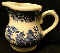 "Churchill Blue Willow Creamer 3 5/8"" England Excellent"