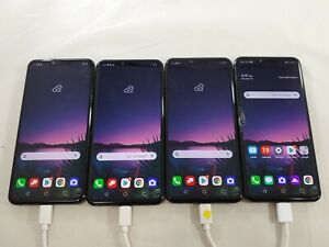 LOT of 4 LG G8 LM-G820 128GB GSM Unlocked Smartphones Assorted Carriers A076L