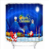180/200cm Flowers XMAS Scenery Shower Curtain 100% Polyester Waterproof Fabric L