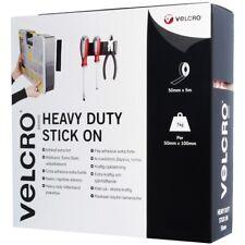WHITE VELCRO STRIP 50mm x 5M Adhesive Hook Loop LONG Wall Tool Rack Roll Tape UK