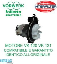 MOTORE ASPIRAPOLVERE FOLLETTO VK 120 VK 121 VK 122 COMPATIBILE VORWERK 2 VENTOLE