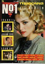 Madonna on Magazine Cover 18 October 1986  The Bangles  Julian Cope Cyndi Lauper