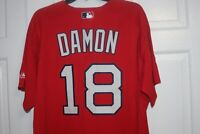 Boston Red Sox MLB Majestic Johnny Damon #18 Size L Baseball Jersey New