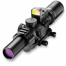 Burris 200437-FF MTAC 1-4-24mm Combo Illuminated Ballistic CQ Riflescope