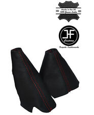 RED STITCH LEATHER HANDBRAKE HI-LOW TRANSFER GAITERS FOR LAND ROVER DISCOVERY