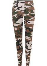 Girls Childrens Kids Camouflage Army Print  Cotton Leggings Full length Stretchy