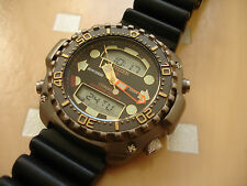 Rare Citizen Titanium Diver Promaster Aquamount JP3020-05E  Aqualand Dive Watch