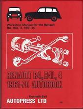 RENAULT 4,R4,R4L,4L,SUPER,FOURGONNETTE AUTOBOOKS WORKSHOP MANUAL 1961-1970