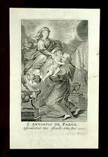 SANTINO PERGAMENA 1600  S.ANTONIO DA PADOVA c. van merlen