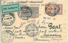 ITALIA storia postale - PRIMI VOLI - cat  SASSONE 114: MILANO / MUNCHEN Monaco