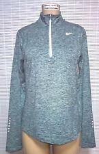 NIKE Element Long Sleeve 1/2 Zip Top Run Thumb Hole 904900 Running Green Shirt L