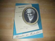 Alexander von Humboldt - Biografie - Kosmos - 1959 - Deutscher Sparkassenverband