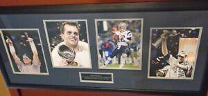 Dual COA Autographed  Tom Brady  Super Bowl MVP Photos Professionally Framed