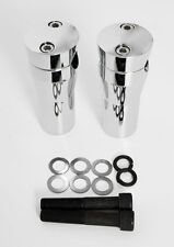 "CHROME BILLET HANDLEBAR RISERS SPRINGER 4"" RISE CUSTOM FIT DNA AFTERMARKET"