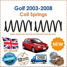 For VW Golf 2003-2008 2 Front Coil Springs Standard Suspension Set Pair New