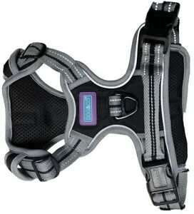 SPORTS DOG HARNESS IN BLACK BY DOG & CO - AJUSTABLE REFLECTIVE / LARGE