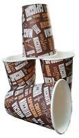 100 X 12oz Disposable Coffee Cups Capuccino  Paper Cups For Hot And Cold Drink