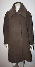 HILARY RADLEY Peru Brown Wool Alpaca LS Coat Jacket 2 S M Wide Collar