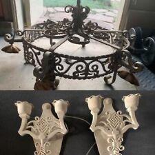 spanish revival chandelier & Sconces