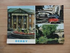 1970s Multi View Postcard Of Derby - The Council House -Chapel on the bridge