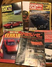 6 Vintage Car Magazines Books 1960-1987