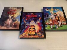 The Hobbit / Lord Or The Rings / Return Of King 3 Dvd Lot Animated Trilogy Oop