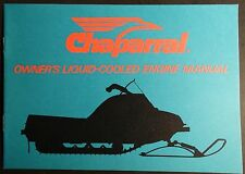 VINTAGE CHAPARRAL SNOWMOBILE ENGINE MANUAL LIQUID COOLED MODELS NEW  (462)