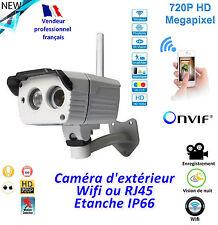 Caméra Wifi extérieure - Etanche  IP66 - Compatible Onvif - Slot SD card